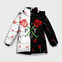 Куртка зимняя для девочки PAYTON MOORMEIER - ТИКТОК цвета 3D-черный — фото 1