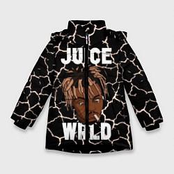 Детская зимняя куртка для девочки с принтом Juice WRLD, цвет: 3D-черный, артикул: 10212973906065 — фото 1