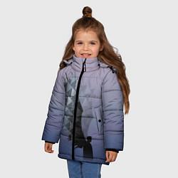 Куртка зимняя для девочки Castiel цвета 3D-черный — фото 2