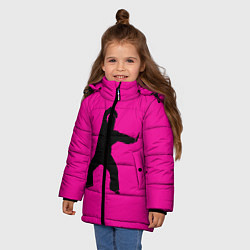 Куртка зимняя для девочки Little Big: UNO цвета 3D-черный — фото 2