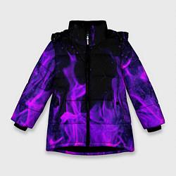 Куртка зимняя для девочки ФИОЛЕТОВЫЙ ОГОНЬ цвета 3D-черный — фото 1