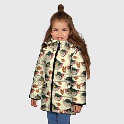 Куртка зимняя для девочки Tom: Pattern цвета 3D-черный — фото 2