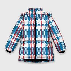 Куртка зимняя для девочки Текстура Сумка Челнока цвета 3D-черный — фото 1