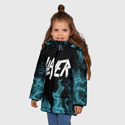 Куртка зимняя для девочки Slayer цвета 3D-черный — фото 2