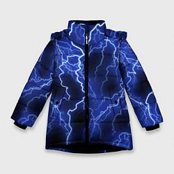 Куртка зимняя для девочки МОЛНИЯ NEON цвета 3D-черный — фото 1