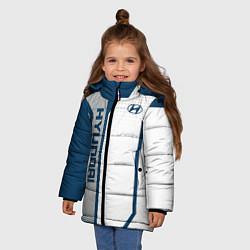 Куртка зимняя для девочки Hyundai Driver team цвета 3D-черный — фото 2