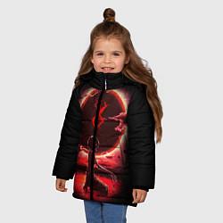 Куртка зимняя для девочки BERSERK цвета 3D-черный — фото 2