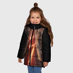 Куртка зимняя для девочки The Flash цвета 3D-черный — фото 2