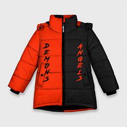 Куртка зимняя для девочки AngelsDemons цвета 3D-черный — фото 1