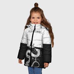 Куртка зимняя для девочки Унесённые призраками цвета 3D-черный — фото 2