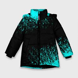 Куртка зимняя для девочки Краска цвета 3D-черный — фото 1