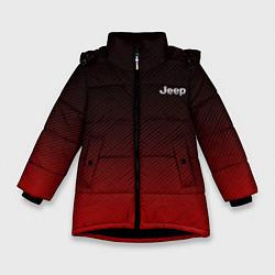 Детская зимняя куртка для девочки с принтом Jeep спина Z, цвет: 3D-черный, артикул: 10237334506065 — фото 1