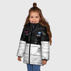 Куртка зимняя для девочки SUBARU WRX STI спина Z цвета 3D-черный — фото 2