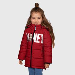 Куртка зимняя для девочки Money цвета 3D-черный — фото 2