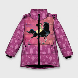 Куртка зимняя для девочки Мулан цвета 3D-черный — фото 1