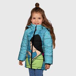 Куртка зимняя для девочки Mulan and Cri-Kee цвета 3D-черный — фото 2