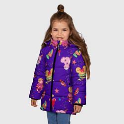 Детская зимняя куртка для девочки с принтом Минни Маус, цвет: 3D-черный, артикул: 10250076706065 — фото 2