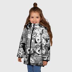 Куртка зимняя для девочки СЕНПАЙ SENPAI цвета 3D-черный — фото 2