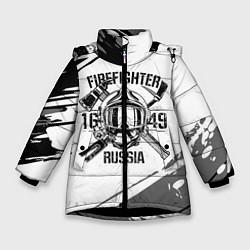Куртка зимняя для девочки FIREFIGHTER 1649 RUSSIA цвета 3D-черный — фото 1