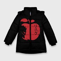 Куртка зимняя для девочки Рюк Тетрадь смерти цвета 3D-черный — фото 1