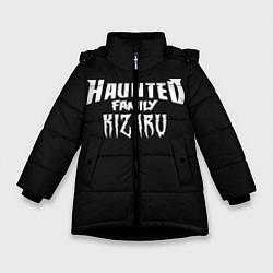 Куртка зимняя для девочки KIZARU HAUNTED FAMILY цвета 3D-черный — фото 1