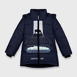 Куртка зимняя для девочки Чёрное зеркало цвета 3D-черный — фото 1