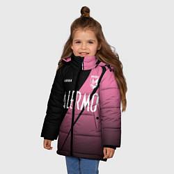 Куртка зимняя для девочки PALERMO FC цвета 3D-черный — фото 2
