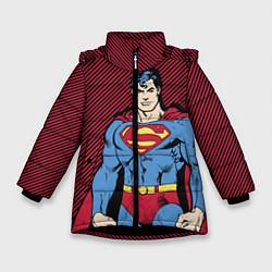 Куртка зимняя для девочки I am your Superman цвета 3D-черный — фото 1