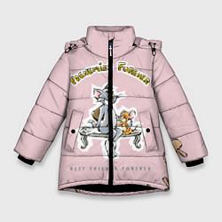 Куртка зимняя для девочки FRENEMIES FOREVER цвета 3D-черный — фото 1