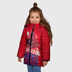 Куртка зимняя для девочки Justice League цвета 3D-черный — фото 2