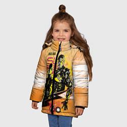 Куртка зимняя для девочки Лига справедливости цвета 3D-черный — фото 2