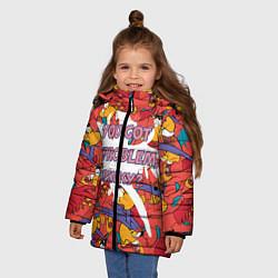 Куртка зимняя для девочки ЯГО цвета 3D-черный — фото 2