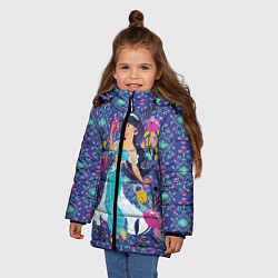 Куртка зимняя для девочки Принцесса Жасмин цвета 3D-черный — фото 2