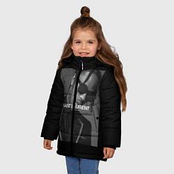 Куртка зимняя для девочки Travis Scott SL цвета 3D-черный — фото 2