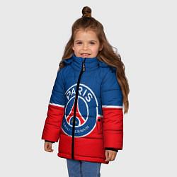 Куртка зимняя для девочки FC PSG цвета 3D-черный — фото 2