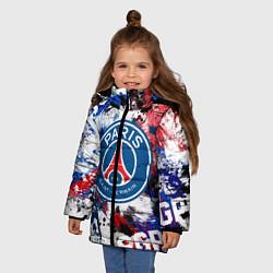 Куртка зимняя для девочки PSG FC цвета 3D-черный — фото 2