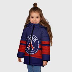 Куртка зимняя для девочки PSG цвета 3D-черный — фото 2