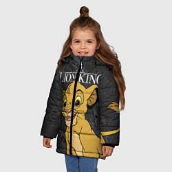 Куртка зимняя для девочки Король Лев цвета 3D-черный — фото 2