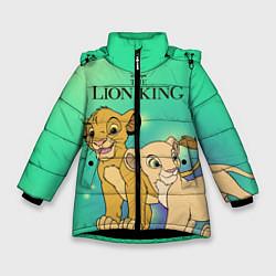 Куртка зимняя для девочки Юные Симба и Нала цвета 3D-черный — фото 1