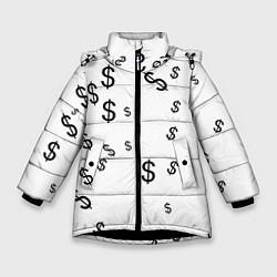 Куртка зимняя для девочки Доллар цвета 3D-черный — фото 1