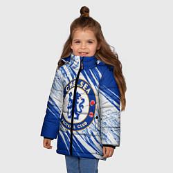 Куртка зимняя для девочки Chelsea цвета 3D-черный — фото 2