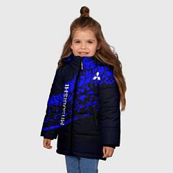 Куртка зимняя для девочки Mitsubishi цвета 3D-черный — фото 2