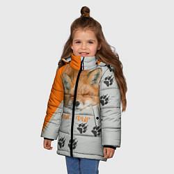 Куртка зимняя для девочки Фыр-Фыр цвета 3D-черный — фото 2