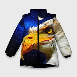 Куртка зимняя для девочки ОРЕЛ цвета 3D-черный — фото 1