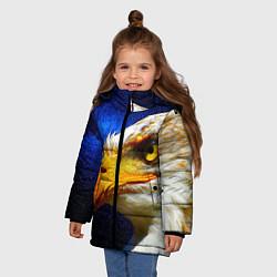 Детская зимняя куртка для девочки с принтом ОРЕЛ, цвет: 3D-черный, артикул: 10268867906065 — фото 2