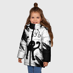 Куртка зимняя для девочки ЪУЪ СЪУКА цвета 3D-черный — фото 2