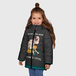 Куртка зимняя для девочки Стенли Пайнс цвета 3D-черный — фото 2