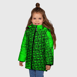 Куртка зимняя для девочки AMONG US АМОНГ АС цвета 3D-черный — фото 2
