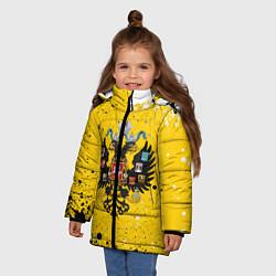 Куртка зимняя для девочки РОССИЙСКАЯ ИМПЕРИЯ цвета 3D-черный — фото 2