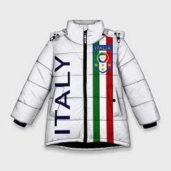 Куртка зимняя для девочки СБОРНАЯ ИТАЛИИ цвета 3D-черный — фото 1